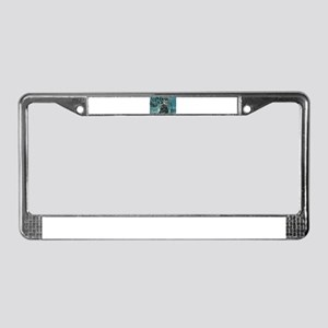 Amphibious attack tiger License Plate Frame