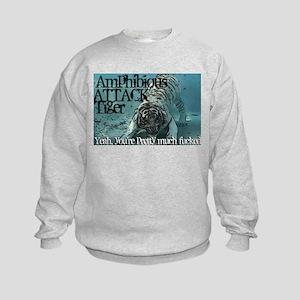 Amphibious attack tiger Kids Sweatshirt