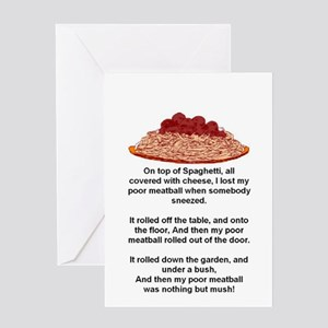 ON TOP OF SPAGHETTI.. Greeting Card