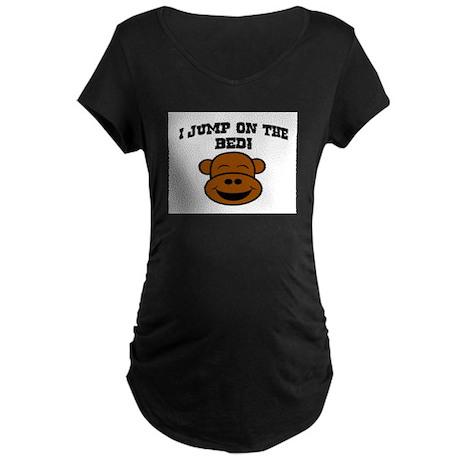I JUMP ON THE BED! Maternity Dark T-Shirt