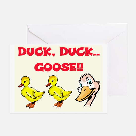 DUCK, DUCK, GOOSE! Greeting Card
