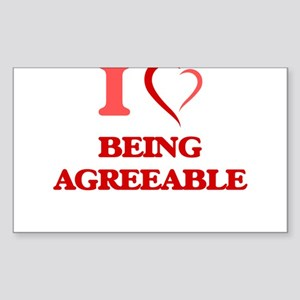 I Love Being Agreeable Sticker