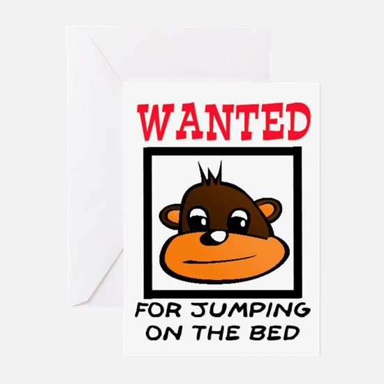 WANTED: JUMPING ON THE BED Greeting Cards (Pk of 2