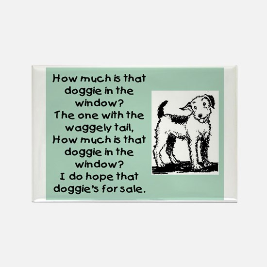 HOW MUCH IS THAT DOGGIE Rectangle Magnet