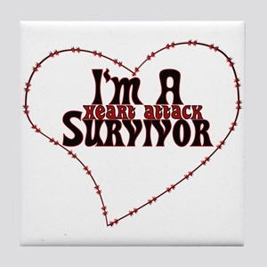 Heart Attack Survivor Tile Coaster