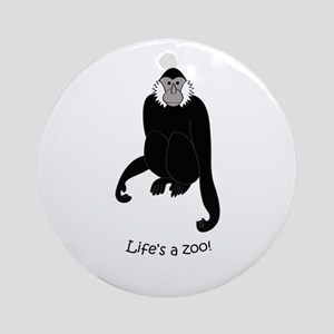 Gibbon Ornament (Round)