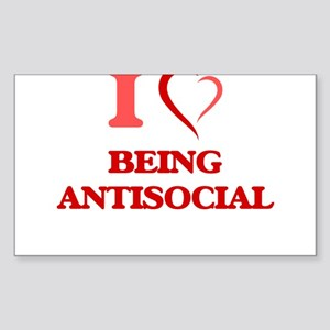 I Love Being Antisocial Sticker