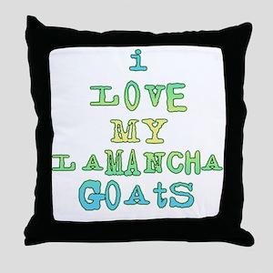 Love LaMancha Goats Throw Pillow