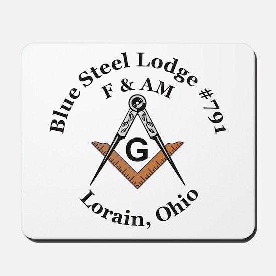 Blue Steel Lodge Mousepad