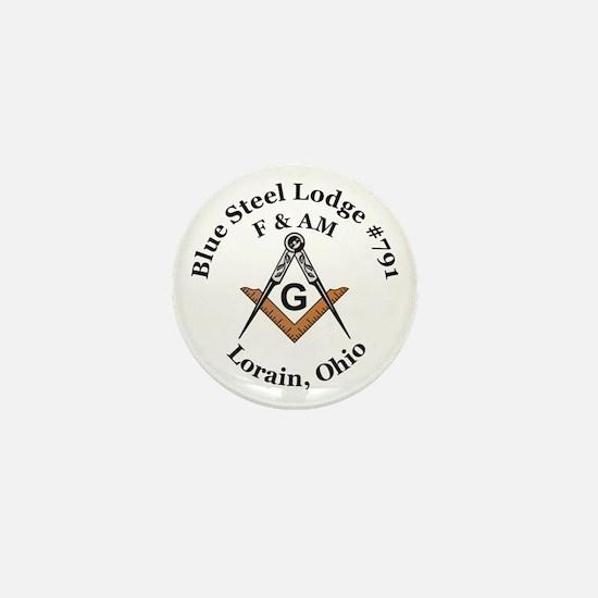 Blue Steel Lodge Mini Button (10 pack)