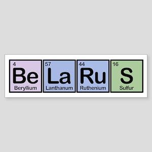 Belarus Made of Elements Bumper Sticker