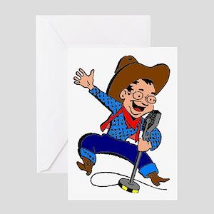 Radio Cowboy Greeting Card