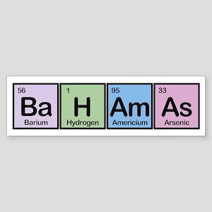 Bahamas Made of Elements Bumper Sticker