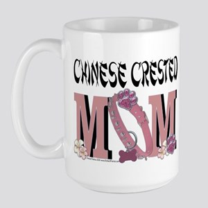 Chinese Crested Mom Large Mug