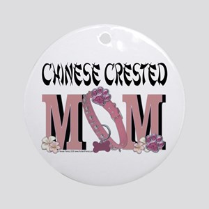 Chinese Crested Mom Ornament (Round)