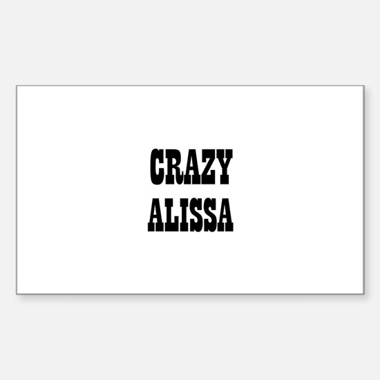 CRAZY ALISSA Rectangle Decal