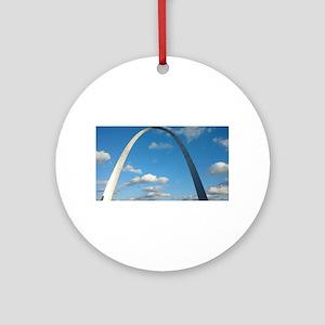 St Louis Arch Round Ornament