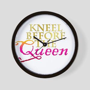 Kneel before the Queen Wall Clock