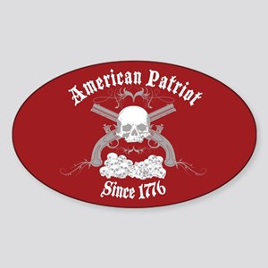 American Patriot Since 1776 Oval Sticker