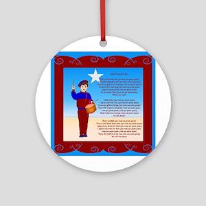 Little Drummer Boy Ornament (Round)
