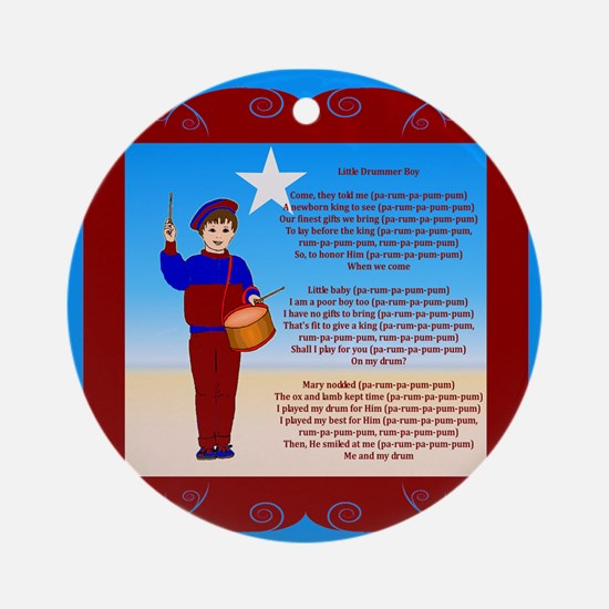 Little Drummer Boy Ornament (Round)