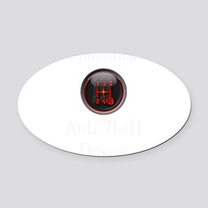 Millenial Anti Theft Device Manual Oval Car Magnet