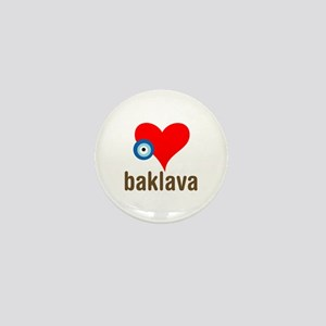 eye heart baklava Mini Button
