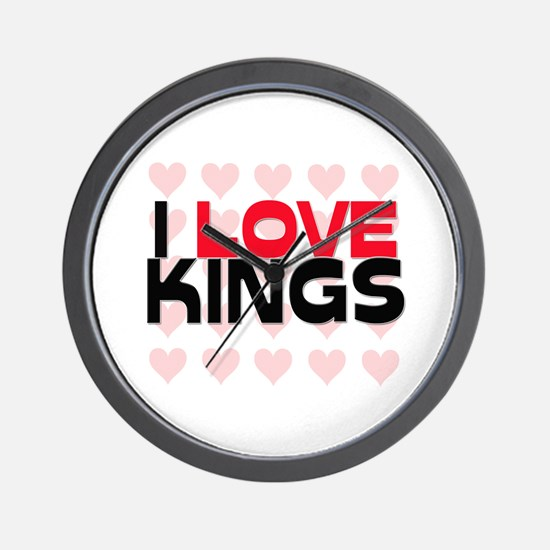 I LOVE KINGS Wall Clock