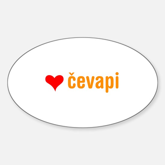 i love cevapi Oval Decal