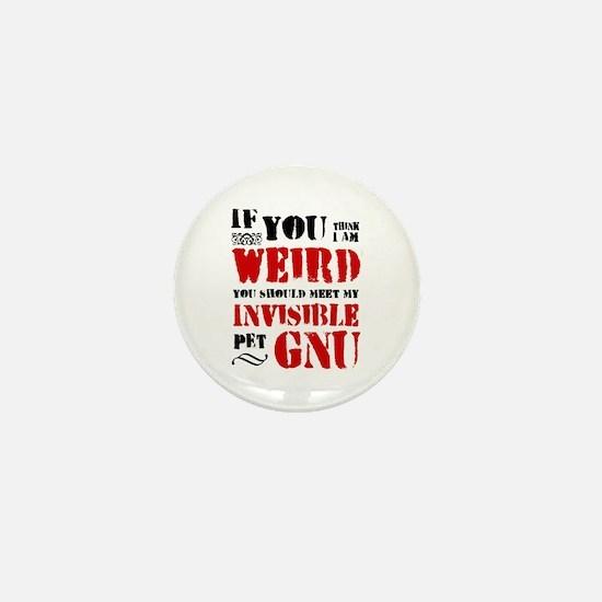 'Invisible Pet Gnu' Mini Button