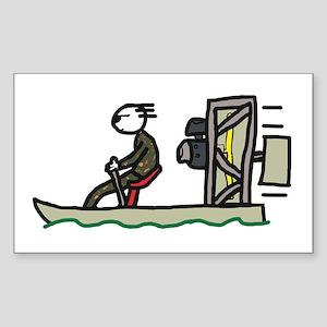 Swamp Boat Sticker