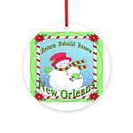 Rebuild New Orleans Snowman Ornament (Round)
