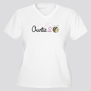 Auntie To Bee Women's Plus Size V-Neck T-Shirt