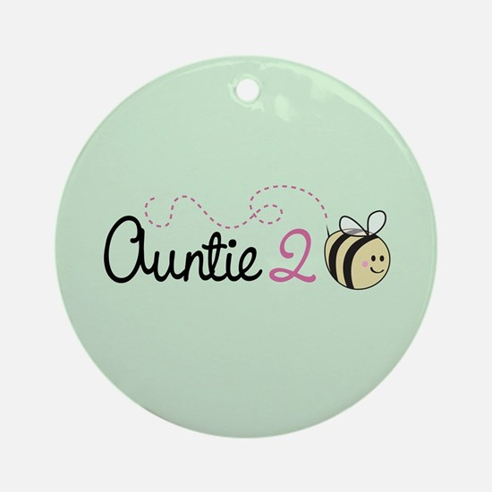 Auntie To Bee Ornament (Round)