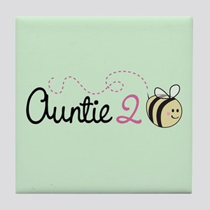Auntie To Bee Tile Coaster