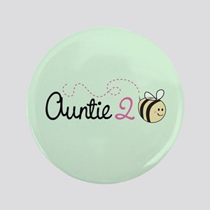 "Auntie To Bee 3.5"" Button"