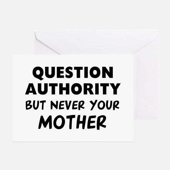 Question Mother Greeting Card