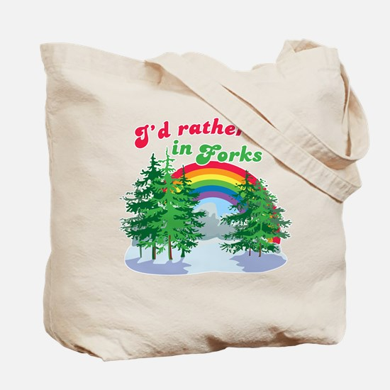 I'd Rather Be In Forks Tote Bag
