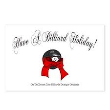 Billiard Christmas Postcards (Package of 8)