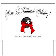 Billiard Christmas Yard Sign
