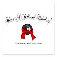 Billiard Christmas Square Car Magnet 3