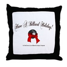 Billiard Christmas Throw Pillow