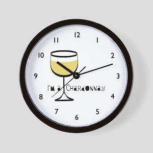 Chardonnay Drinker Wall Clock