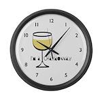 Chardonnay Drinker Large Wall Clock