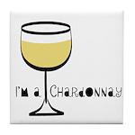 Chardonnay Drinker Tile Coaster