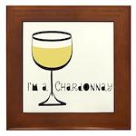 Chardonnay Drinker Framed Tile
