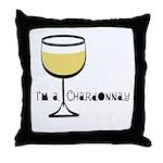 Chardonnay Drinker Throw Pillow