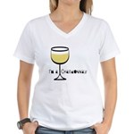 Chardonnay Drinker Women's V-Neck T-Shirt