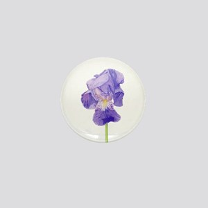 Purple Iris Mini Button