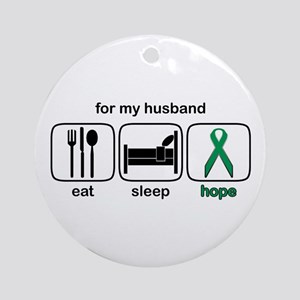 Husband ESHope Kidney Ornament (Round)
